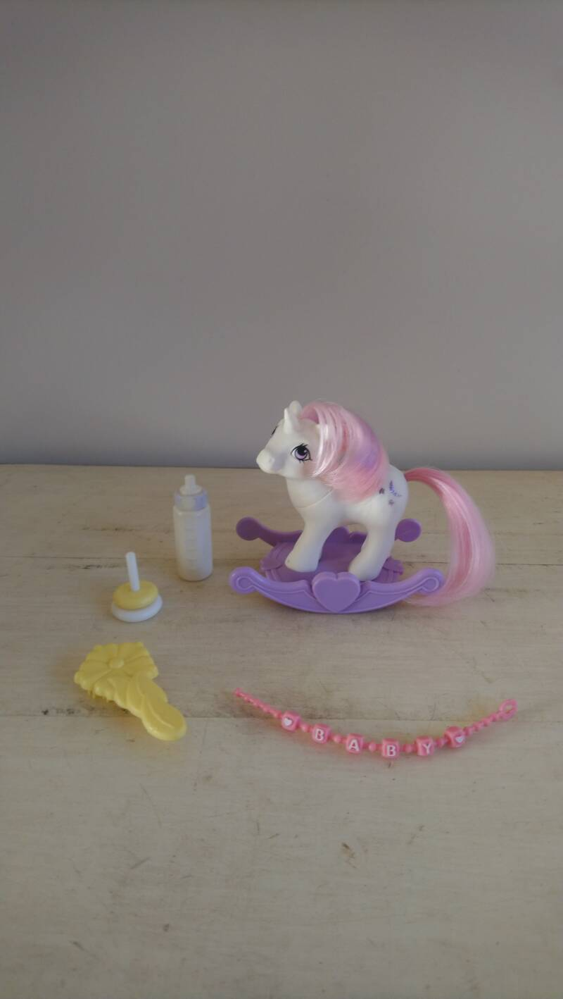 "Vintage My Little Pony G1 ""Baby Moondancer"" met toebehoren Hasbro 1984 Hong Kong"