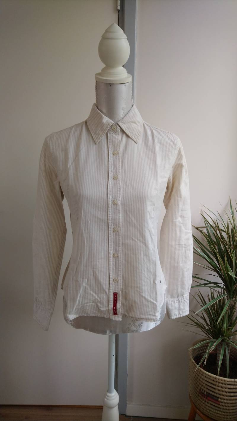 90s gestreepte blouse Tommy Hilfiger - maat xs/s