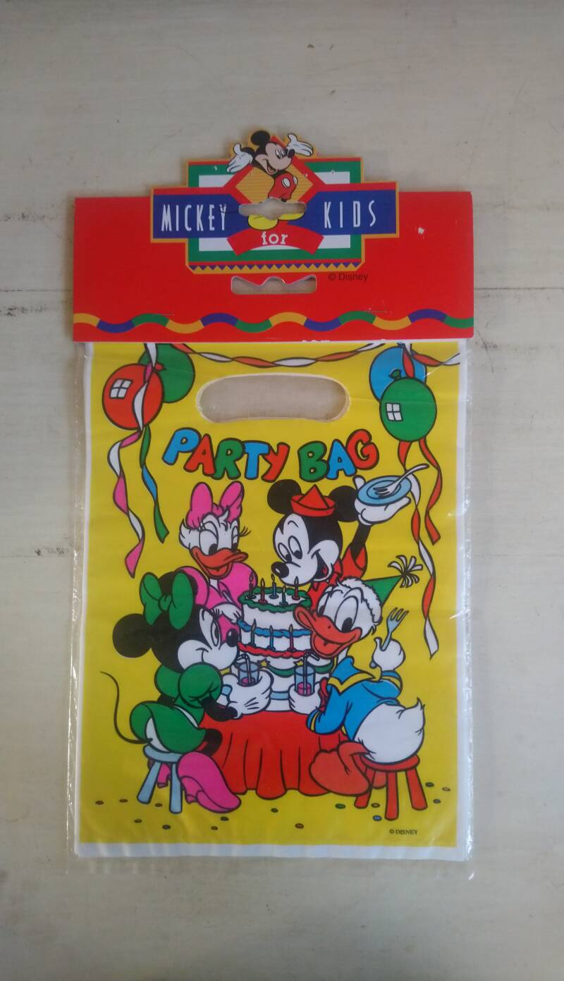 Vintage Disney uitdeelzakjes Mickey for Kids Party Bag