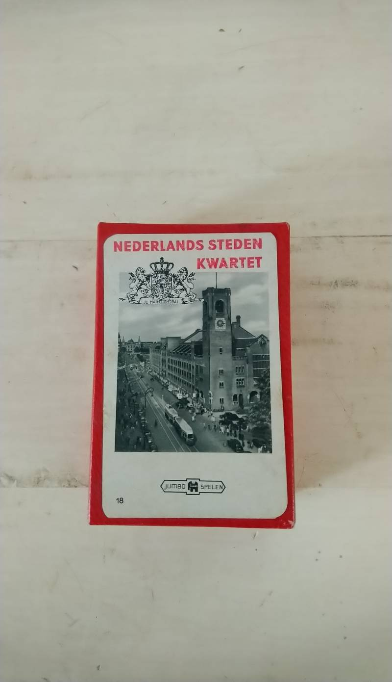 Vintage Nederlands Steden Kwartet Jumbo no. 18 1958 Dutch city quartet