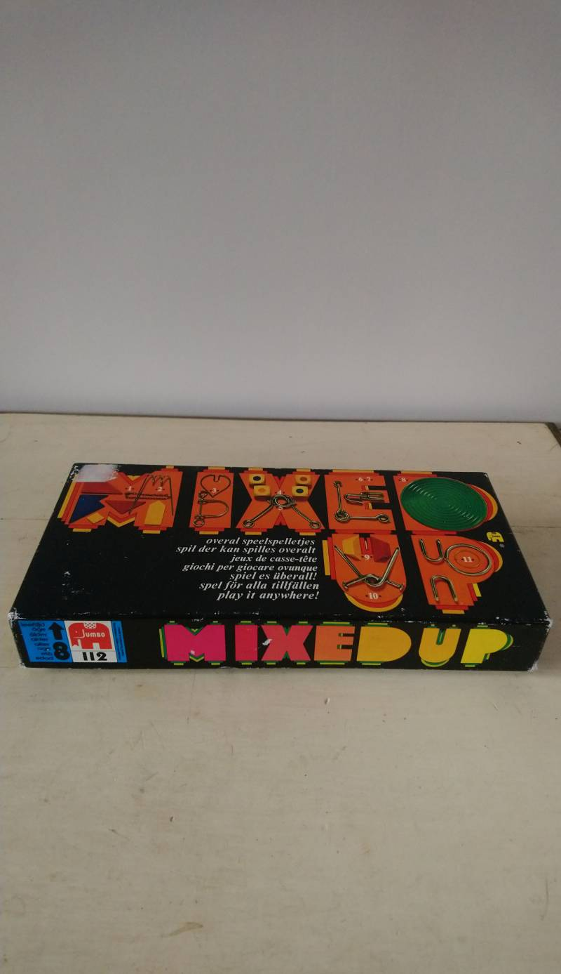Vintage Jumbo Mixed Up, overal speelspelletjes play games everywhere jaren 70