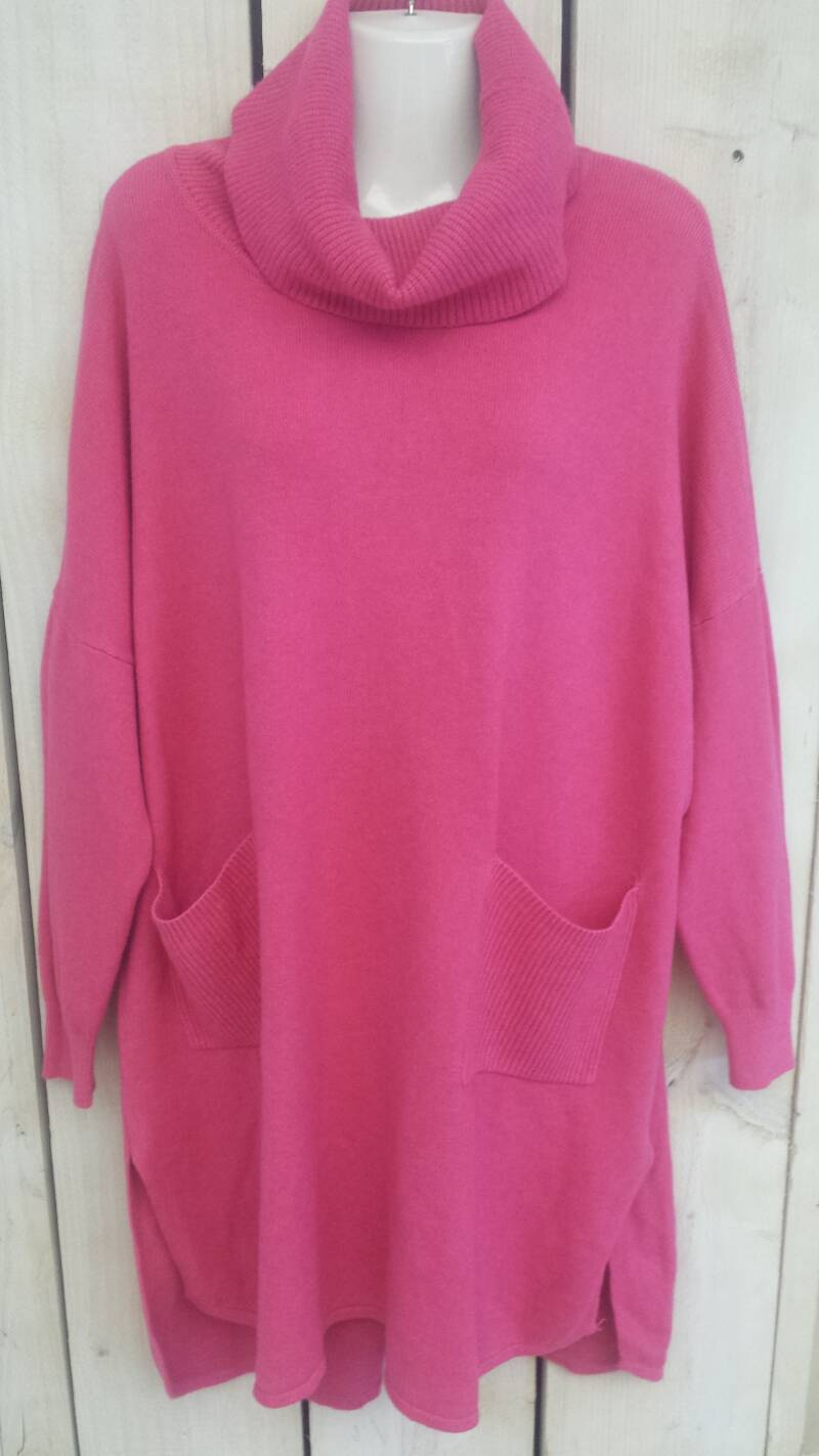 Long colsweater pink