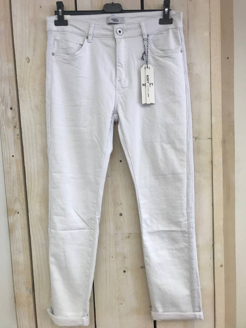 Norfy White Jeans (Plus Size)