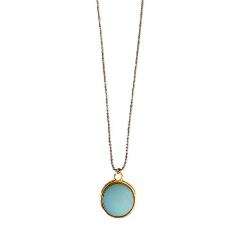 Necklace Coin - Mint (long)