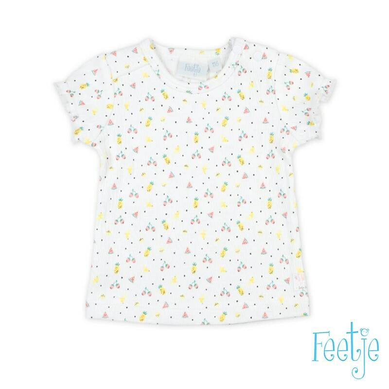 Feetje t-shirt Sweet by nature wit.