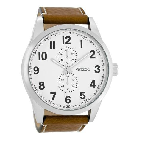 OOZOO Timepieces -Cognac/Wit C8220 (50 mm)