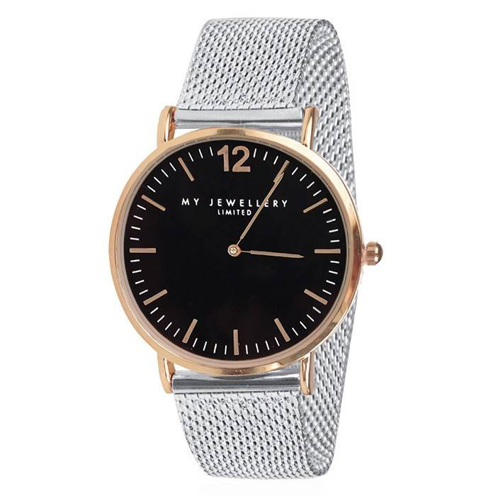 Bicolor Watch Limited Silver/Black - Rose