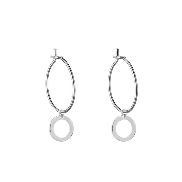 Open Circle Earrings - Gold/Silver