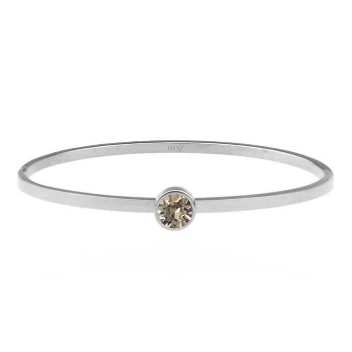 Little Stone Bangle Taupe – Gold/Silver/Rose