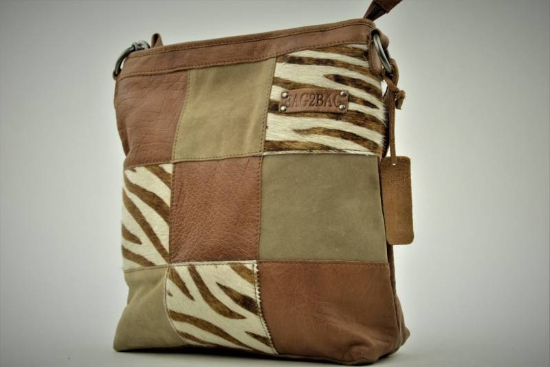 Bag2Bag Lagos Zebra Brown - Leer