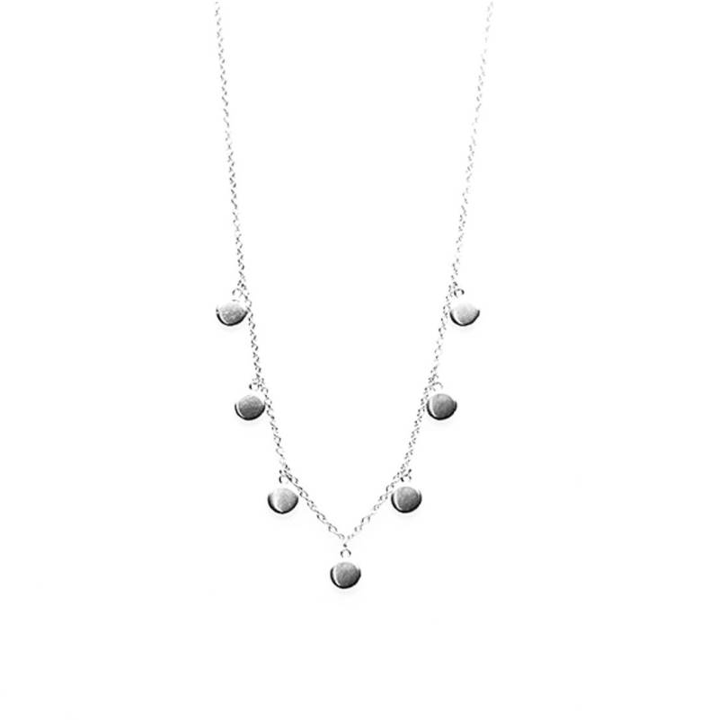 KARMA Necklace 7 Discus - 925 zilver