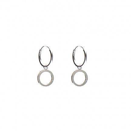 KARMA Hoops Symbols Open Circle - 925 zilver