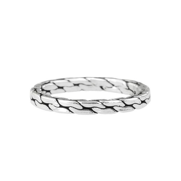 Texture Chain Ring - 925 zilver