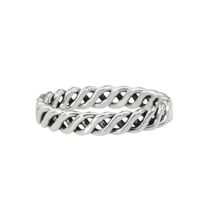 Texture Twist Ring - 925 zilver