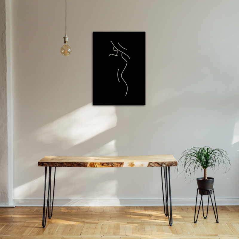 "Metalen wanddecoratie ""Line Art Chic"""