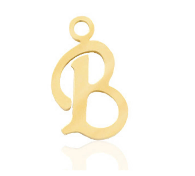 Stainless steel initial / letter (rvs) B