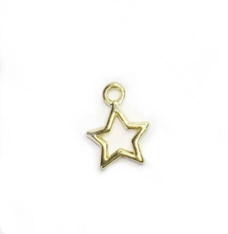 Bedel / hanger metaal cut out star goud.