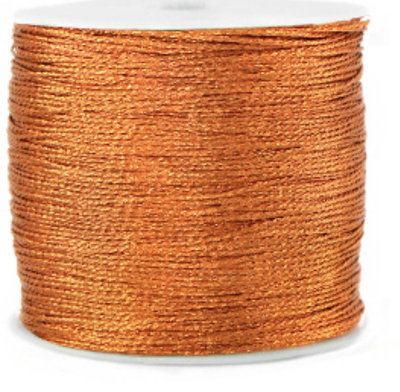 Metallic macramé draad 0,8mm Rust orange