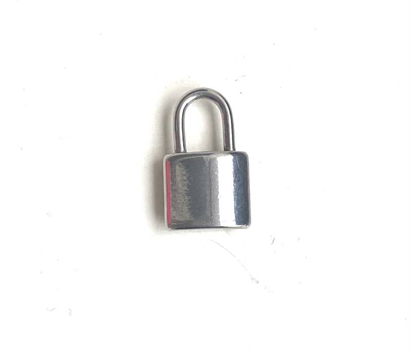 Stainless steel lock ( slot ) rvs Zilver