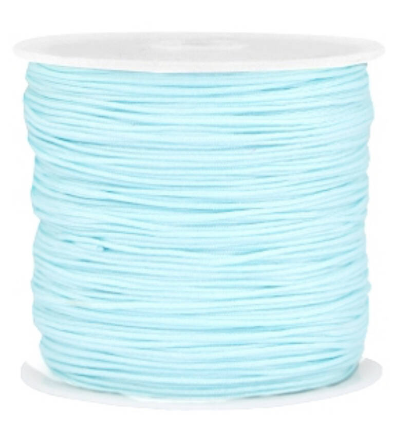 Draad macramé 0.8mm Light aquamarine blue