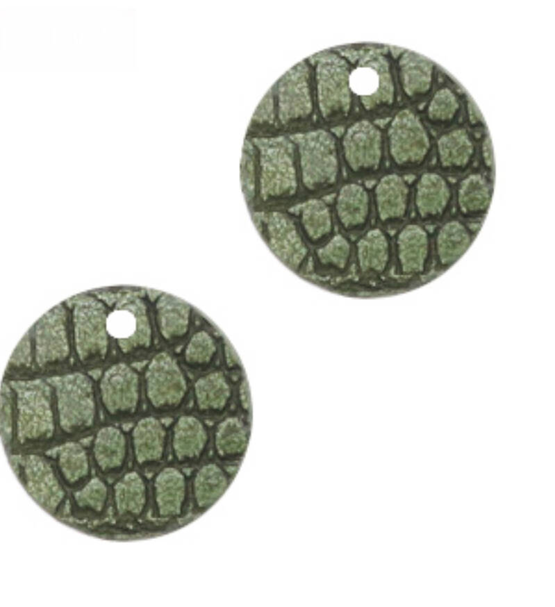 Hangers croco green rond small