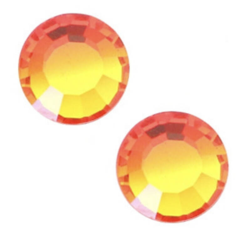 Swarovski ss34 flatback fire opal orange