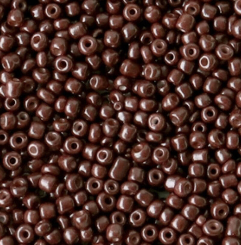 Rocailles 12/0 2mm port royal brown