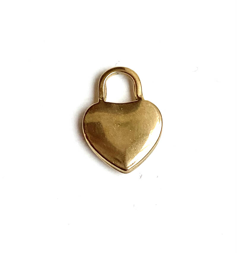 Stainless steel bedel Heart Gold
