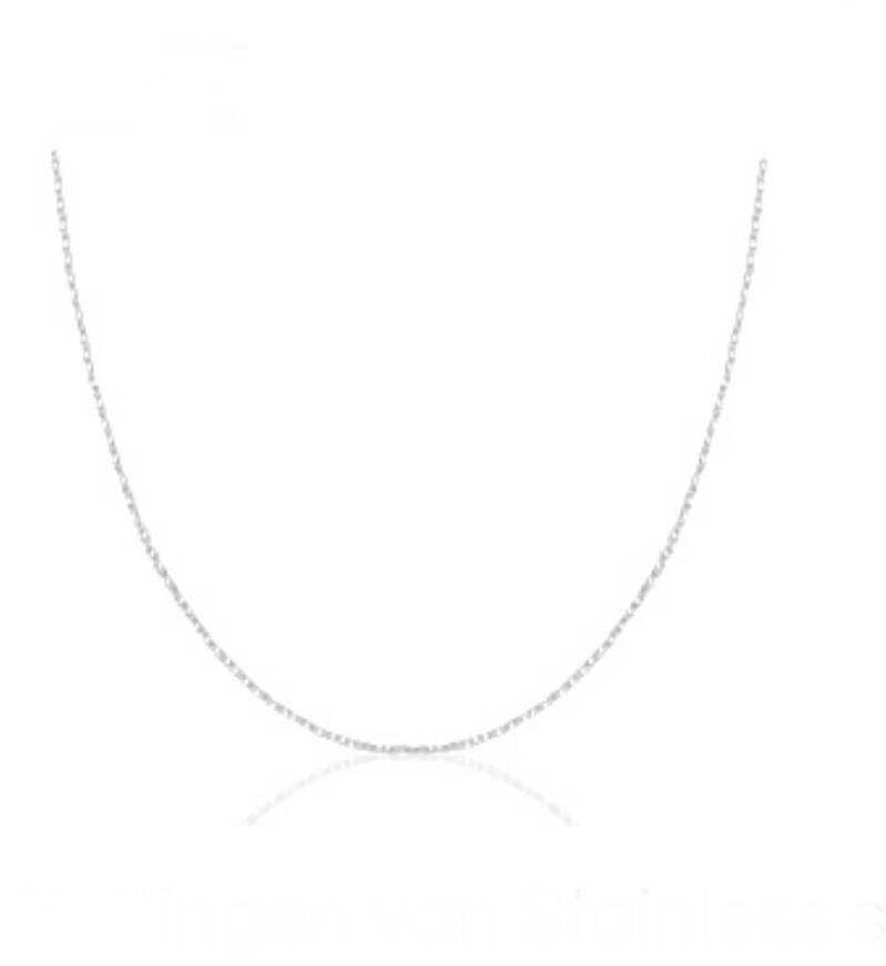 Stainless steel ketting zilver 45cm compleet