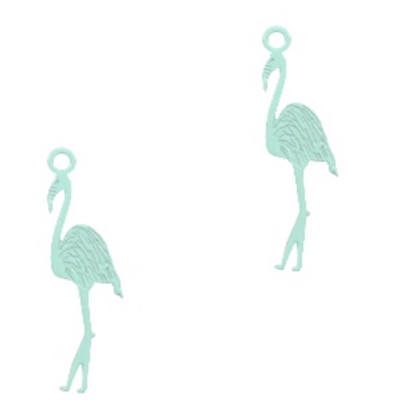 Bohemian bedel flamingo fresh mint green