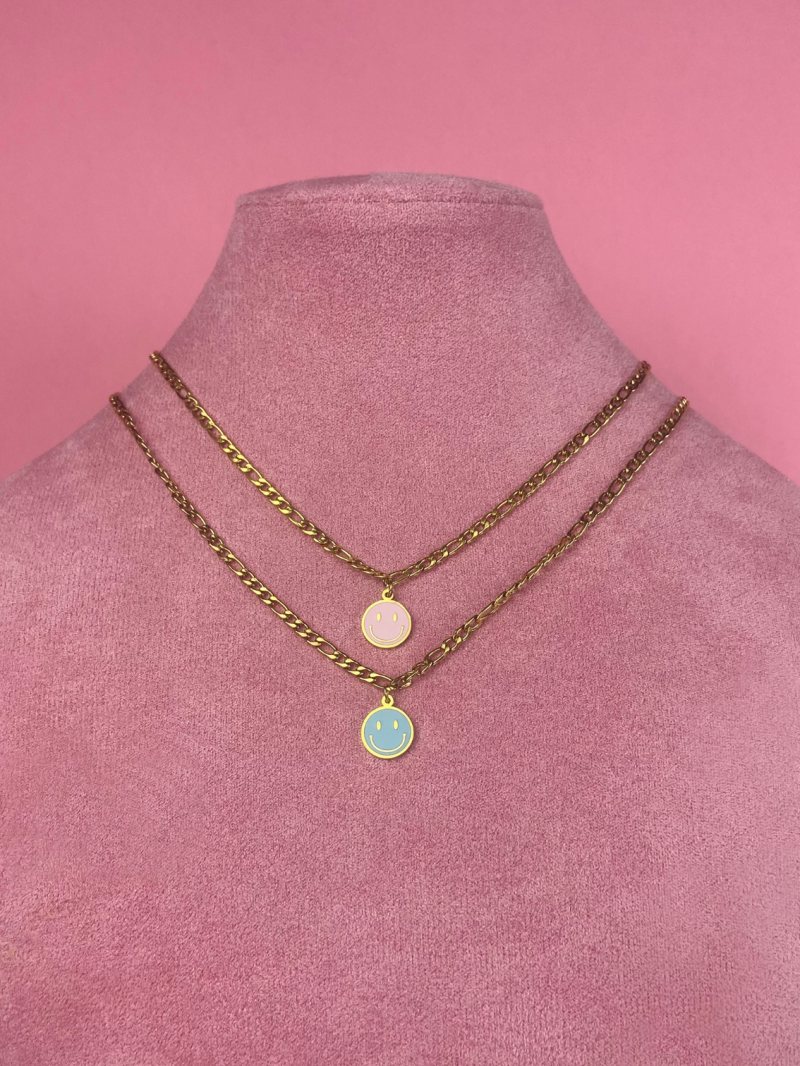 Ketting SMILE BABY BLUE