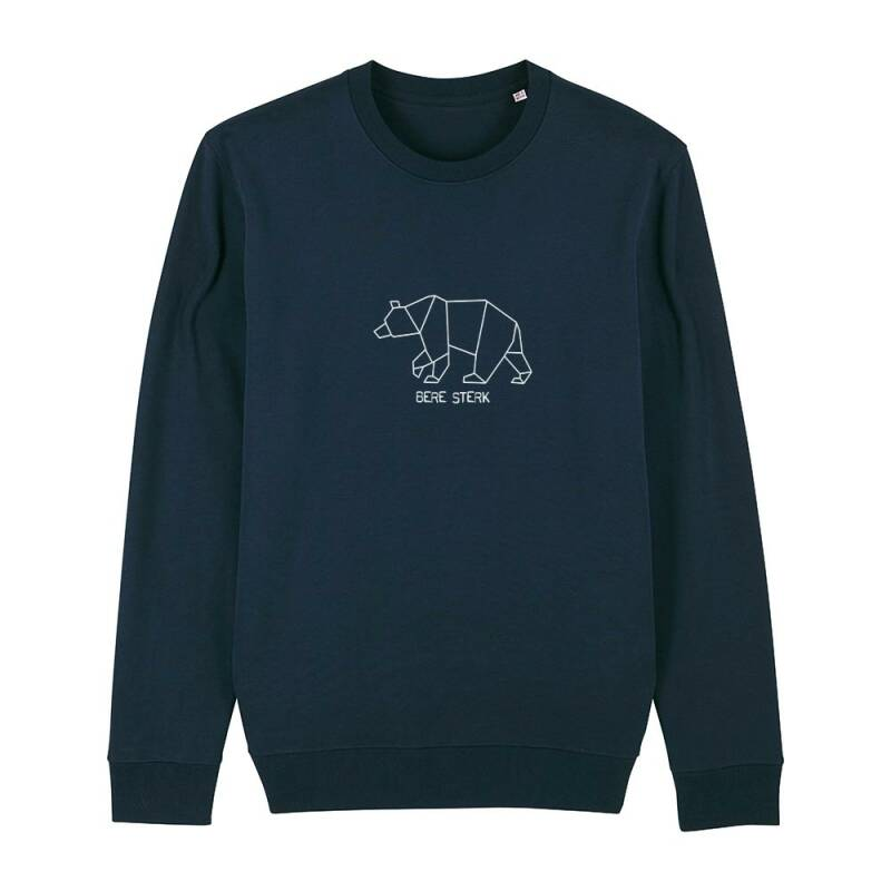 "Sweater navy ""BERE STERK"""