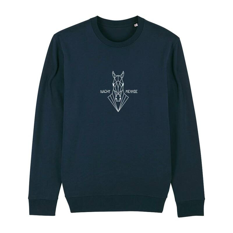 "Sweater navy ""NACHT MERRIE"""