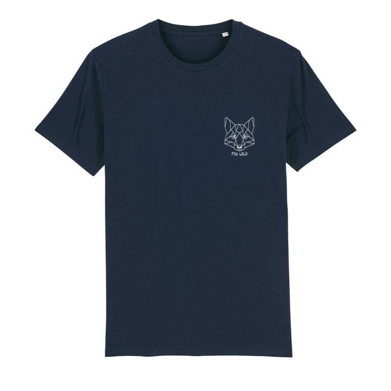 "Heren T-shirt navy ""FOX WILD"""