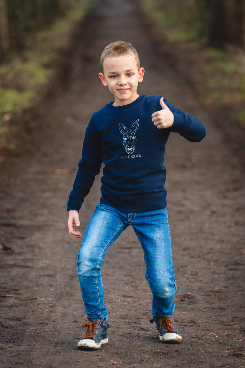 "Kids sweater navy ""KANGOE ROEPEN"""