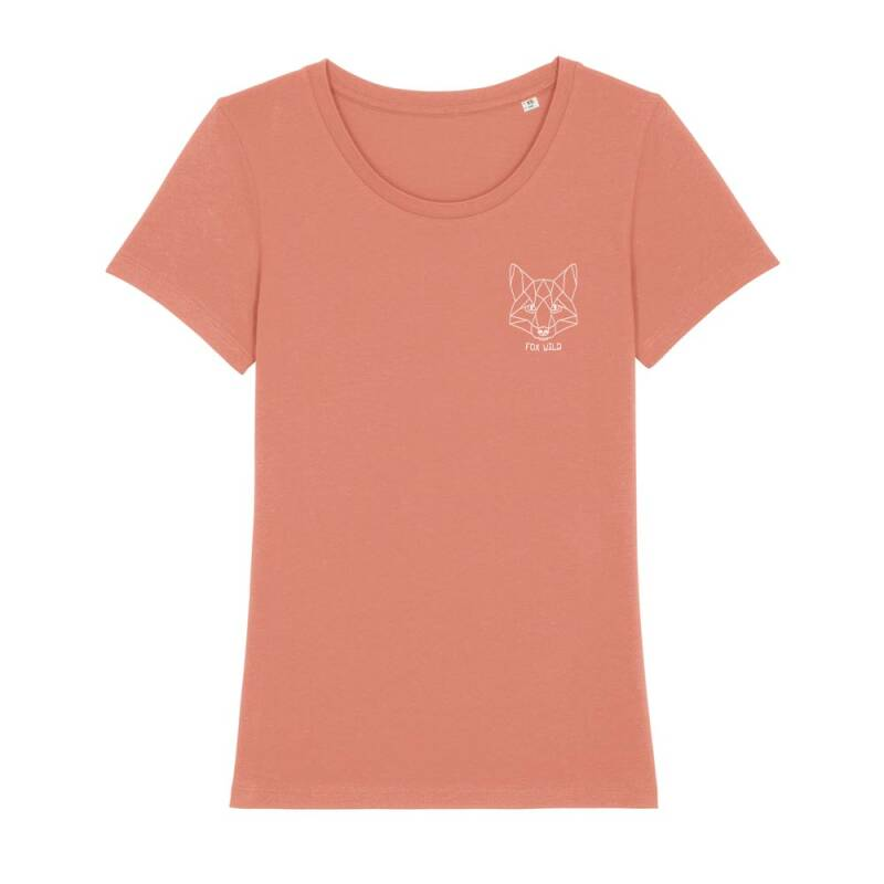 "Dames T-shirt rose clay ""FOX WILD"""