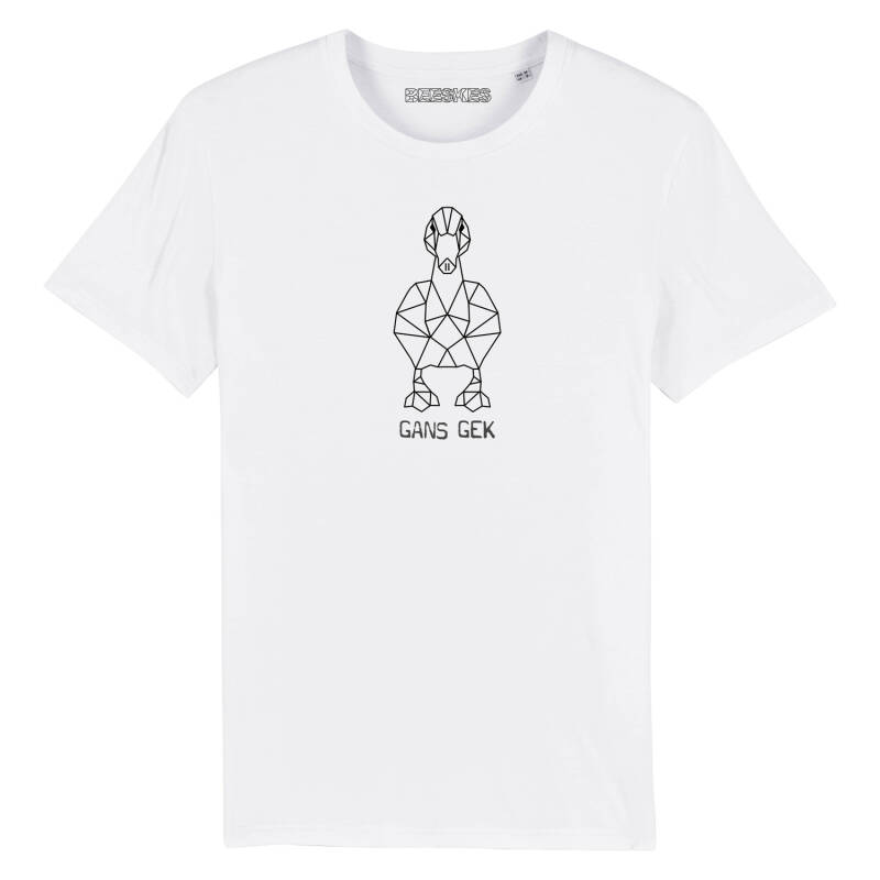 Heren T-shirt Original 'Gans Gek'
