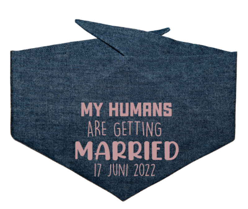 DogBandana 'MY HUMANS ARE GETTING MARRIED GLITTER'