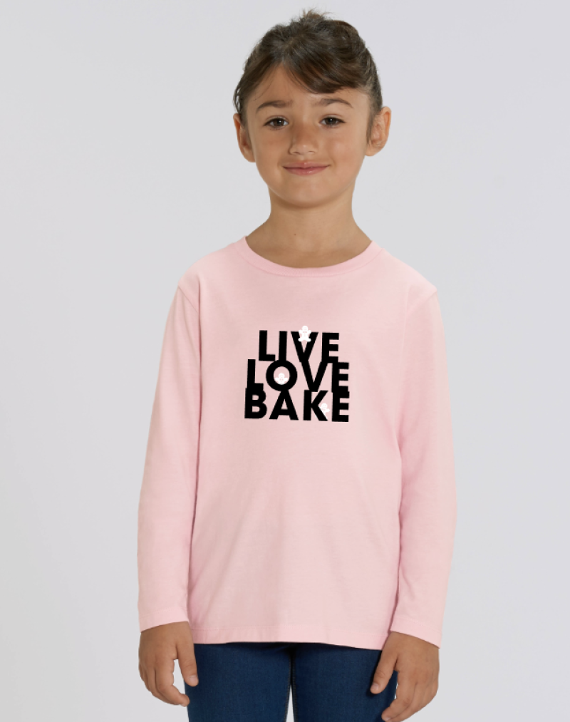 Kids Longsleeve 'Live Love Bake'