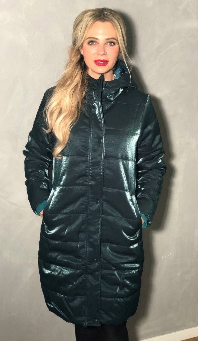 Chrissy Puffy Coat Green