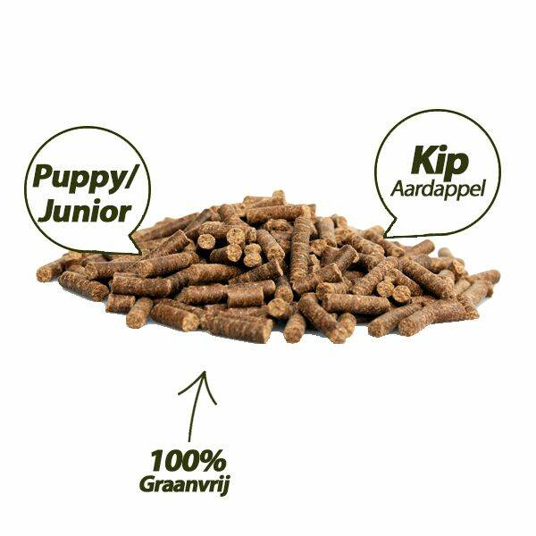 PUPPY super premium chicken & potatoes  100 % GRAANVRIJ 10 kg GEPERSTE BROK