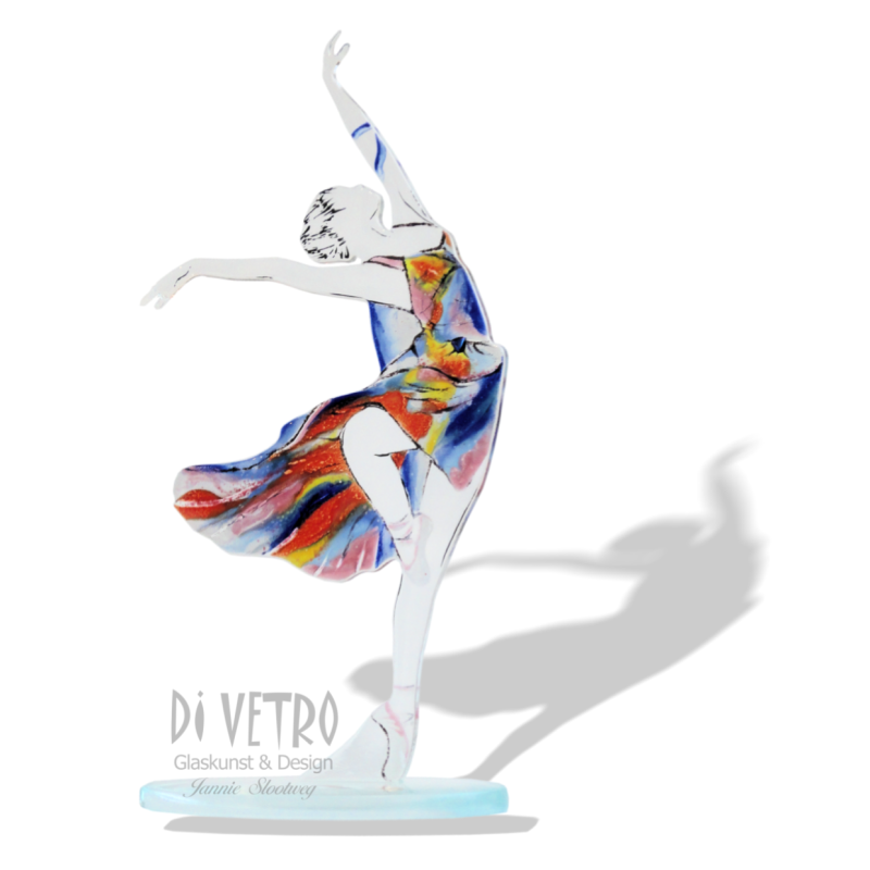 Glasfusing Object 'All Day Dancing My Way II'