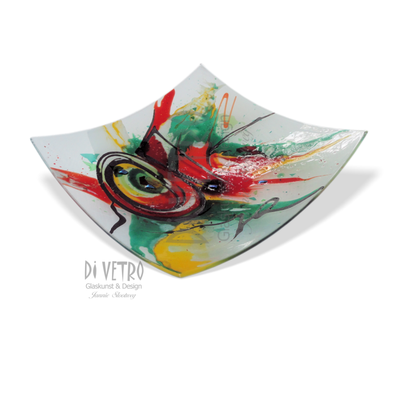 Glasfusing Object: schaal 'ABSTRACTION I'
