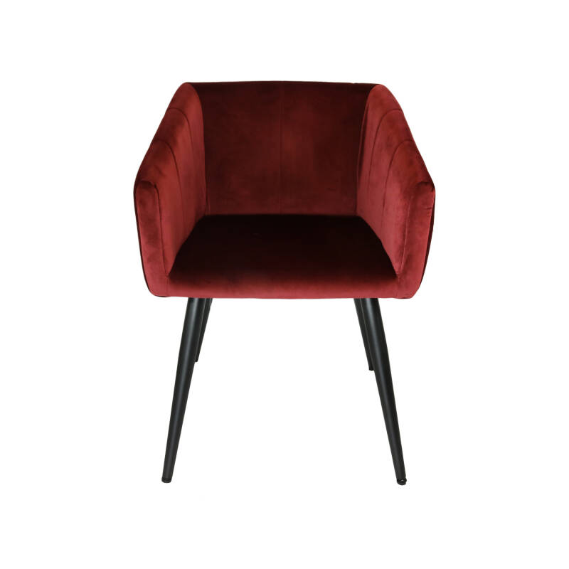 Kick Collection - Eetkamerstoel Liv velvet rood