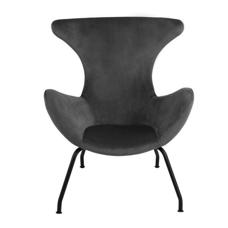 Kick Collection - Fauteuil Billy velvet antraciet