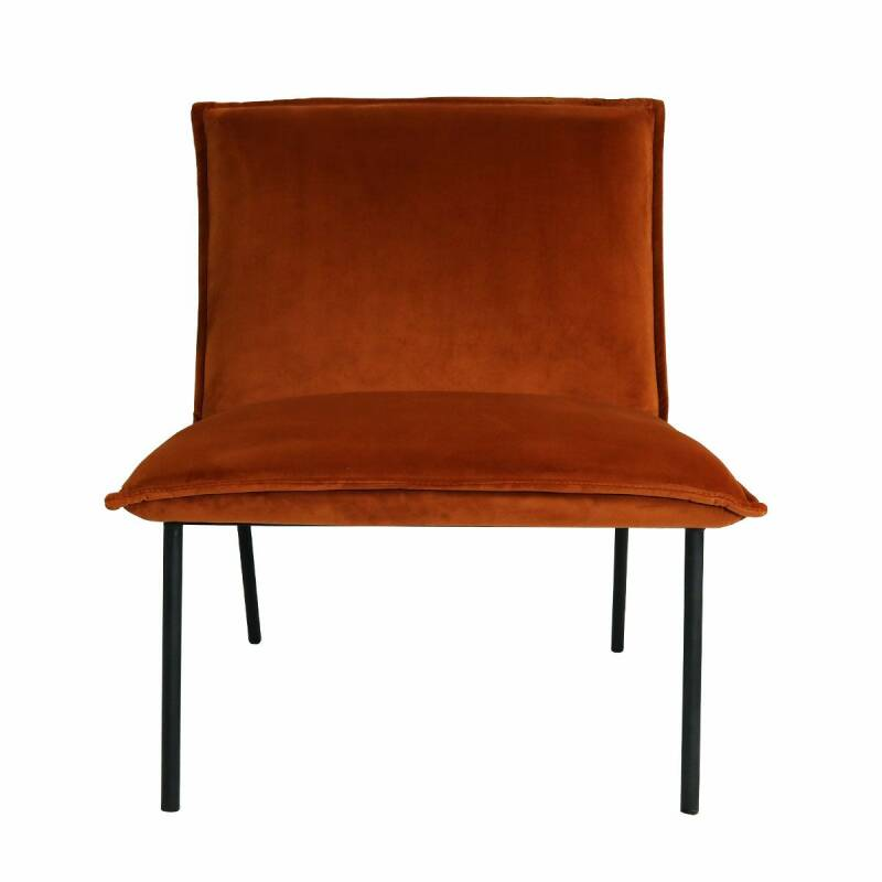 Kick Collection - Fauteuil Lola velvet oranje