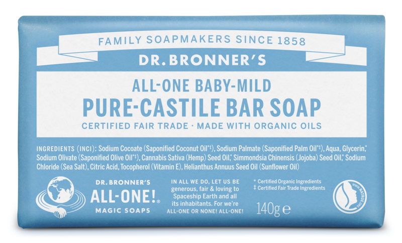 Dr Bronners Barsoap baby mild 140g - 31050