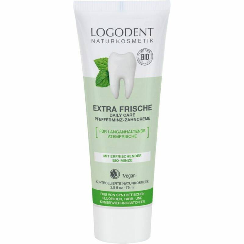 Logona extra fresh daily care peppermint toothpaste 75ml
