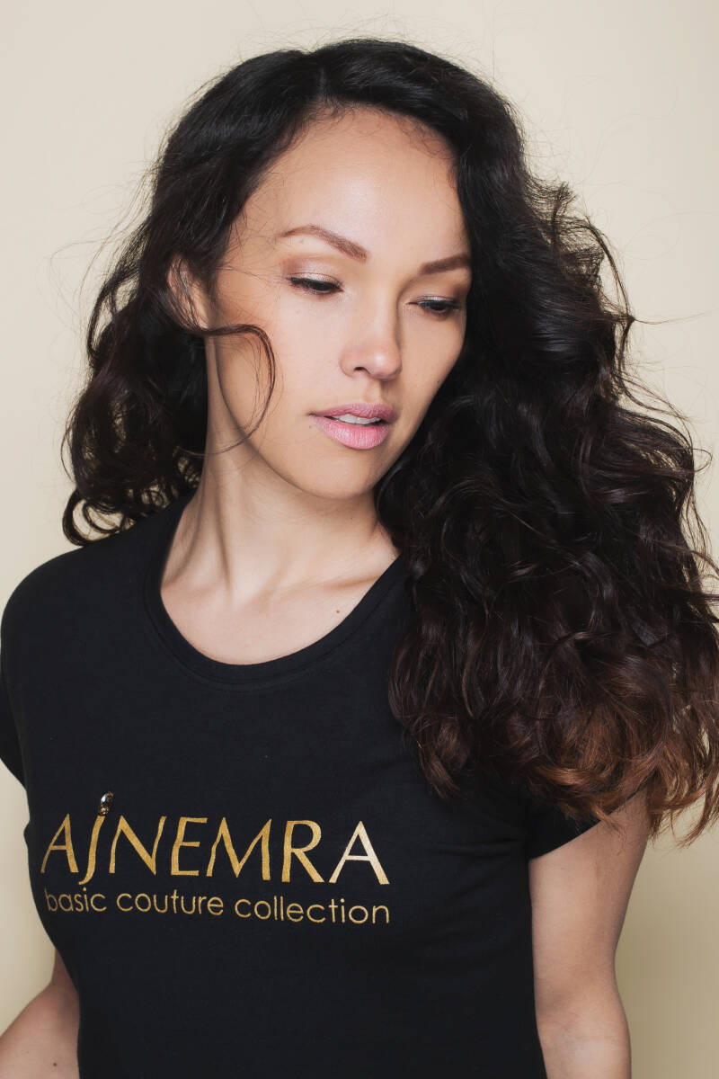T-SHIRT Basic Couture Collection / Black-Gold