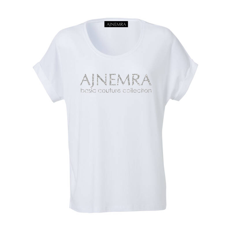 T-SHIRT Basic Couture Collection White-Silver